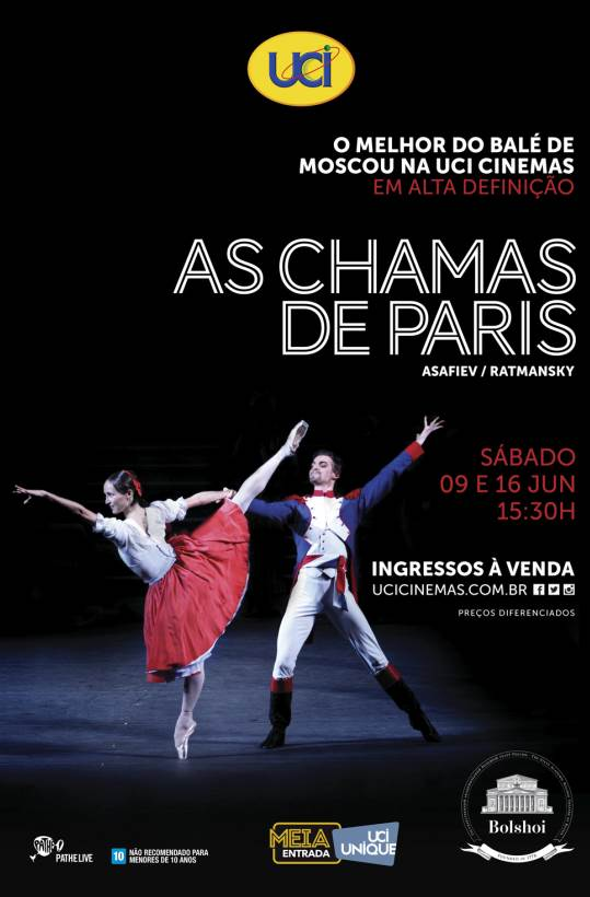 BALLET BOLSHOI: AS CHAMAS DE PARIS 17/18